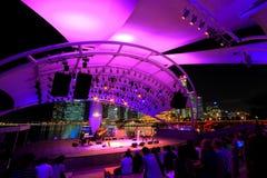 Utomhus- etapp Singapore för promenad Arkivbild