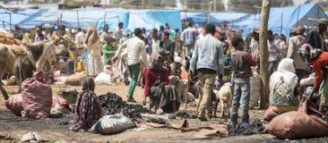 Utomhus- etiopisk marknad Fotografering för Bildbyråer