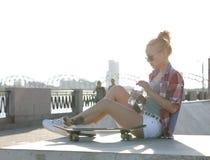 utomhus- flicka Royaltyfri Fotografi