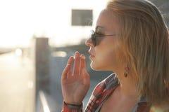utomhus- flicka Fotografering för Bildbyråer