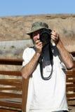 utomhus- fotograf för grabb Royaltyfria Foton