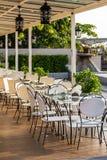 Utomhus- garnering av restaurangen Royaltyfri Foto