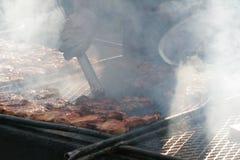 utomhus- grillfest Arkivfoto