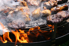 utomhus- grillfestgaller Arkivfoto