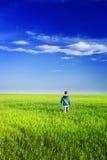 utomhus- gullig unge Royaltyfri Fotografi
