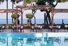 Utomhus- hotellrestaurang Royaltyfri Fotografi