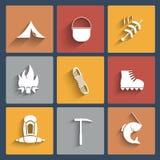 Utomhus- icone Royaltyfri Bild