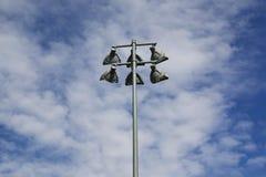 Utomhus- idrotts- domstolljus Royaltyfri Foto