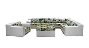 Utomhus- inomhus soffauppsättning Arkivfoton