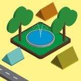 Utomhus- isometrisk illustration Royaltyfria Foton