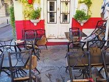 Utomhus- kafé i Aten, Grekland Royaltyfria Foton
