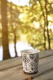 Utomhus- kaffeavbrott Royaltyfri Bild
