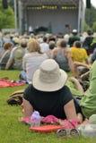 Utomhus- konsert av sommar Arkivbild