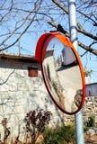 Utomhus- konvexa speglar Royaltyfri Foto