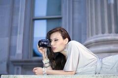 utomhus kvinna royaltyfri foto