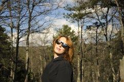 utomhus- kvinna Royaltyfria Foton