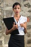 utomhus- kvinna för affär Royaltyfri Fotografi