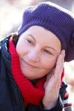 utomhus- kvinna för yo 50 Arkivfoton