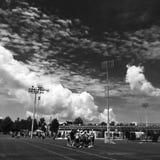 Utomhus- lacrosselek Arkivbild
