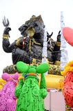 Utomhus- lag av att sitta Ganesha, stål Royaltyfria Bilder