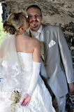 utomhus- landskapbröllop Fotografering för Bildbyråer