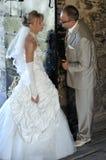 utomhus- landskapbröllop Royaltyfri Foto
