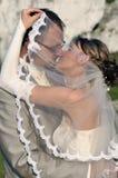 utomhus- landskapbröllop Arkivfoto