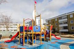 Utomhus- lekplats för barn Arkivbilder
