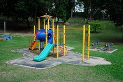Utomhus- lekplats för barn i Selangor, Malaysia Royaltyfri Foto