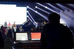 Utomhus- live show Arkivbild