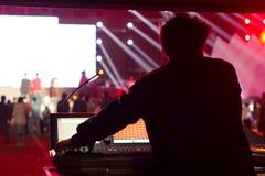 Utomhus- live show Royaltyfria Bilder