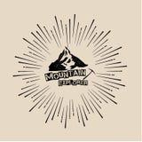 Utomhus- logo, berg, utforskare Royaltyfria Bilder