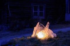 Utomhus- lykta för naturlig is Royaltyfria Bilder