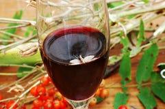Utomhus- mal- och rött vinexponeringsglas Royaltyfria Bilder