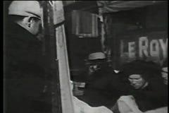 Utomhus- marknad, lägre östlig sida, New York City, 30-tal stock video
