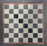 Utomhus- marmorschackbräde Arkivbild