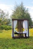 Utomhus- massagebås Fotografering för Bildbyråer