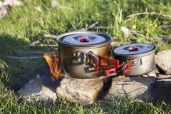 Utomhus- matlagning Royaltyfria Bilder