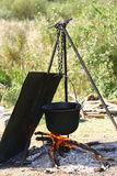 Utomhus- matlagning Arkivbilder
