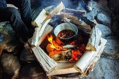 Utomhus- matlagning Royaltyfria Foton