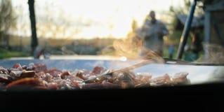 Utomhus- matlagning Royaltyfri Fotografi