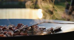 Utomhus- matlagning Royaltyfri Bild