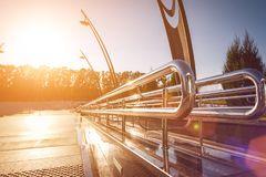 Utomhus- metallledstänger Royaltyfria Bilder