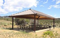 Utomhus- picknickområde Royaltyfria Foton