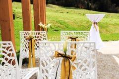 utomhus- platsbröllop Arkivfoto