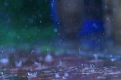 utomhus- regn Fotografering för Bildbyråer