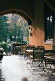 utomhus- restaurang Arkivfoton
