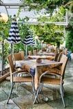 utomhus- restaurang Fotografering för Bildbyråer