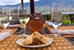 utomhus- restaurang för mål Royaltyfria Foton