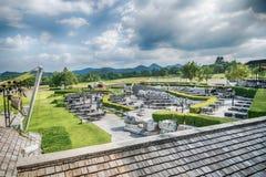 Utomhus- restaurang i sommarträdgård Royaltyfria Bilder